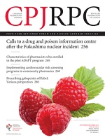 Cover image of the Canadian Pharmacists Journal