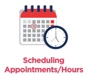 Scheduling appointment hours